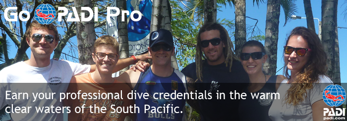 PADI Divemaster and Instructor internships