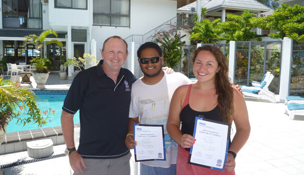 PADI IDC and IE candidates succfully passed